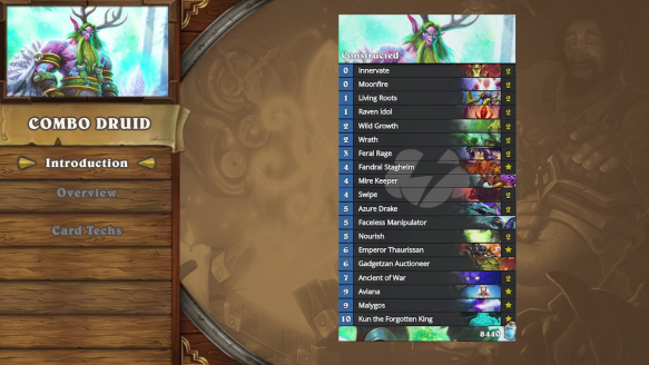Hearthstone Deck Introductions  Combo Druid
