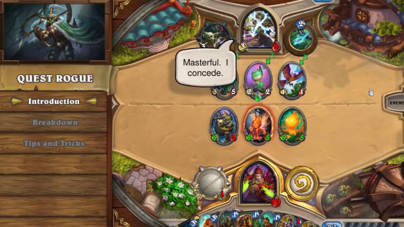 Hearthstone Deck Introductions  Quest Rogue