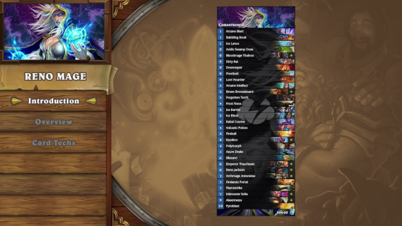 Hearthstone Deck Introductions  Reno Mage