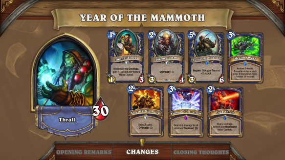 Hearthstone Preview  The Year Of The Mammoth