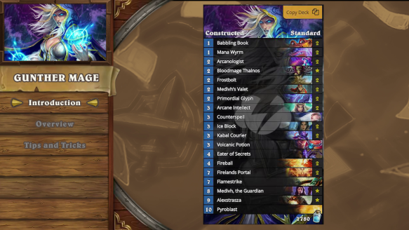 Hearthstone Deck Introductions Gunther Mage