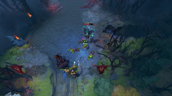 Outworld Devourer Escapes From Nyx And Techies