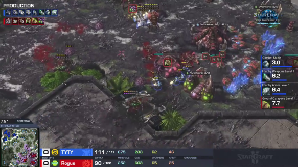 WCS - TY Harasses For Game 1 Over Rogue