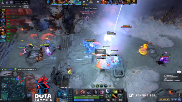 EternaLEnVy's Duel - Fnatic vs. Entity Gaming - Game 2 - DOTA Summit 8 SEA Qualifier