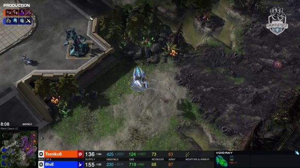 TomikuS vs. Blue Game 1 - Go4SC2