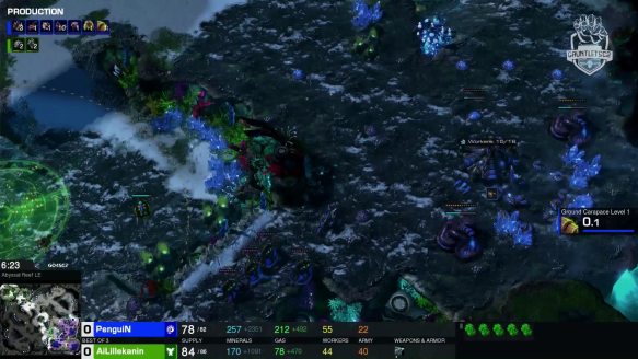 Ailillekanin vs. PenguiN - Game1 - Go4SC2