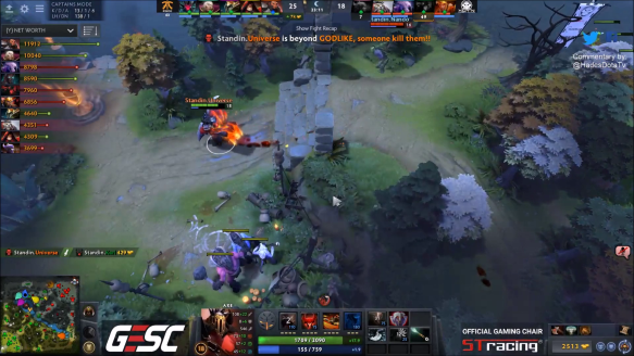 Universe Godlike Chronosphere Dodge - Execration vs. Fnatic - Game 2 - GESC Jakarta SEA Qualifier - Losers' Finals